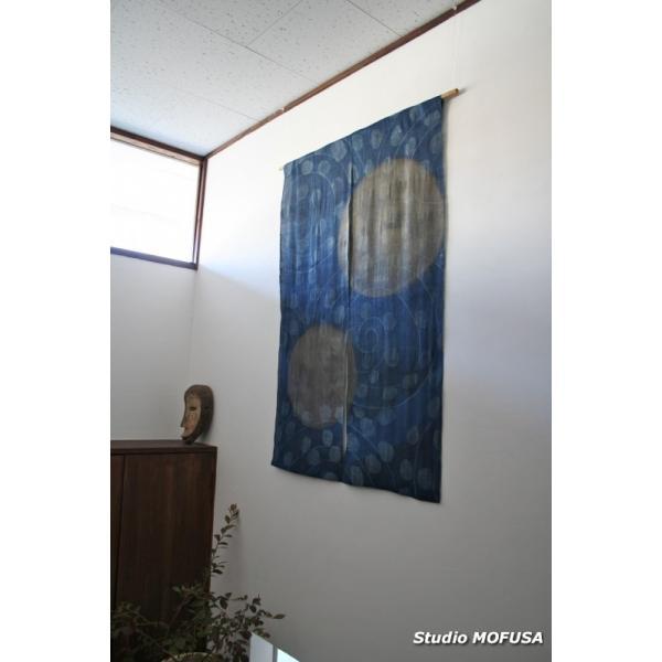 暖簾 のれん N-3202 本麻 半間 90cmx130cm|studio-mofusa|03