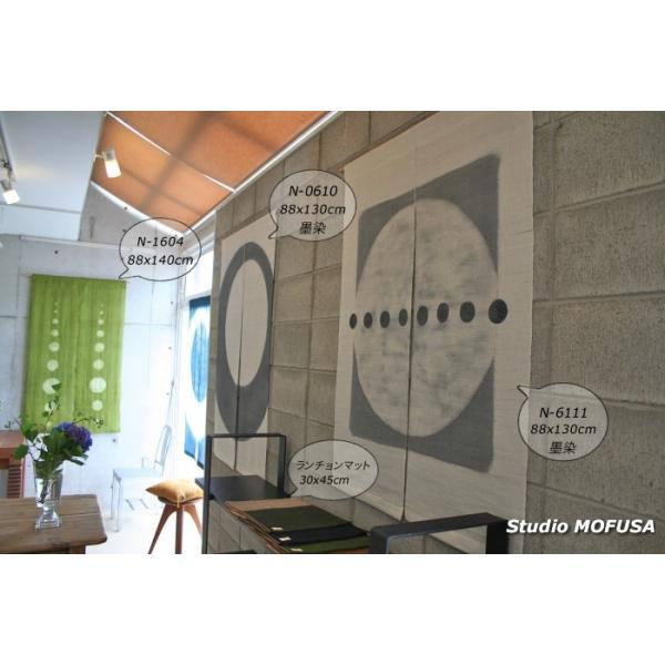 暖簾 のれん N-6112 本麻 墨染め 半間 90cmx130cm|studio-mofusa|02