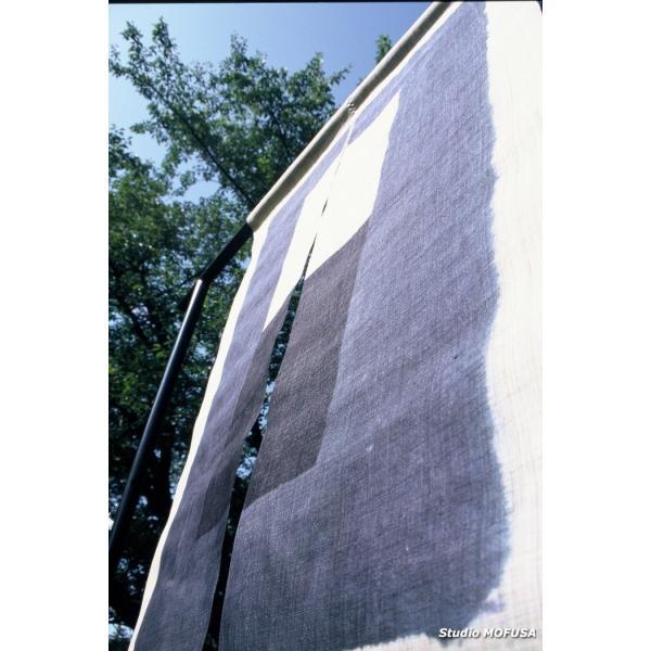 暖簾 のれん N-0401 墨染め 本麻 半間 90x120cm|studio-mofusa