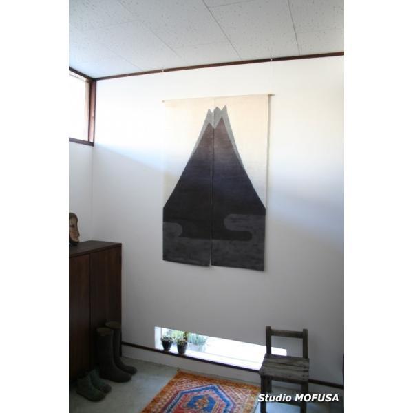 暖簾 のれん N-2302 墨染め 本麻 90cmx140cm studio-mofusa