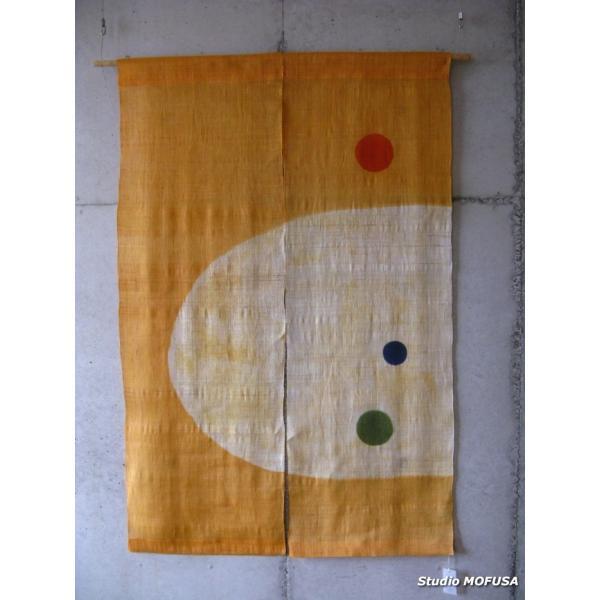 暖簾 のれん N-3703 本麻 半間 90cmx120cm|studio-mofusa