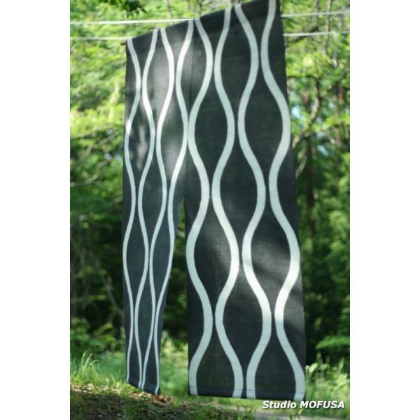 暖簾 のれん N-4601 本麻 半間 90x130cm studio-mofusa 02