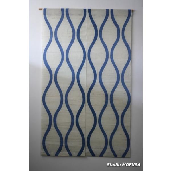 暖簾 のれん N-4601 本麻 半間 90x130cm studio-mofusa 03