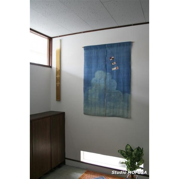 暖簾 のれん N-7703 本麻  半間 90x130cm|studio-mofusa|02