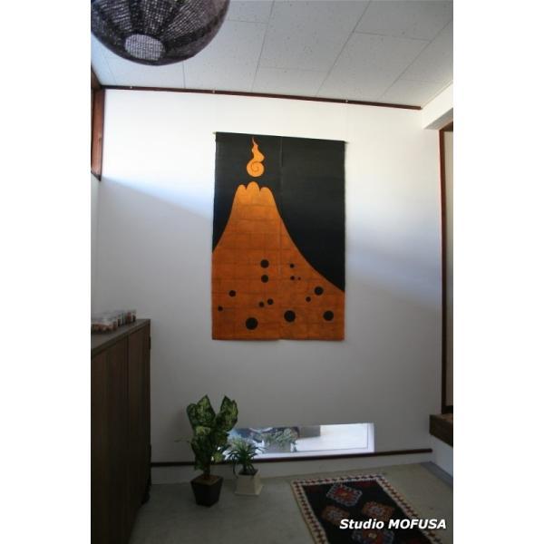 暖簾 のれん N-7810 墨染め 本麻 90cmx130cm|studio-mofusa