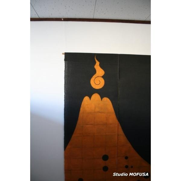暖簾 のれん N-7810 墨染め 本麻 90cmx130cm|studio-mofusa|02