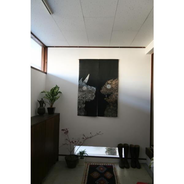 暖簾 のれん N-8210 墨染  半間 本麻 90cmx130cm|studio-mofusa