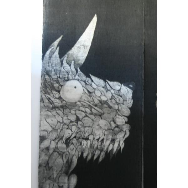 暖簾 のれん N-8210 墨染  半間 本麻 90cmx130cm|studio-mofusa|02