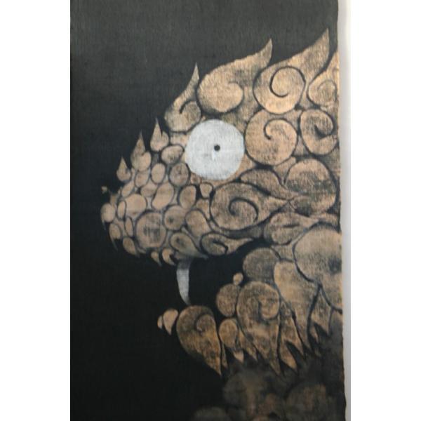 暖簾 のれん N-8210 墨染  半間 本麻 90cmx130cm|studio-mofusa|03
