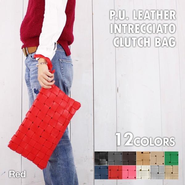 イントレチャート クラッチバッグ レザー 編み込み ハンドバッグ 通学 手持ちバッグ セカンドバッグ 編み込み メッシュ 新生活 プレゼント