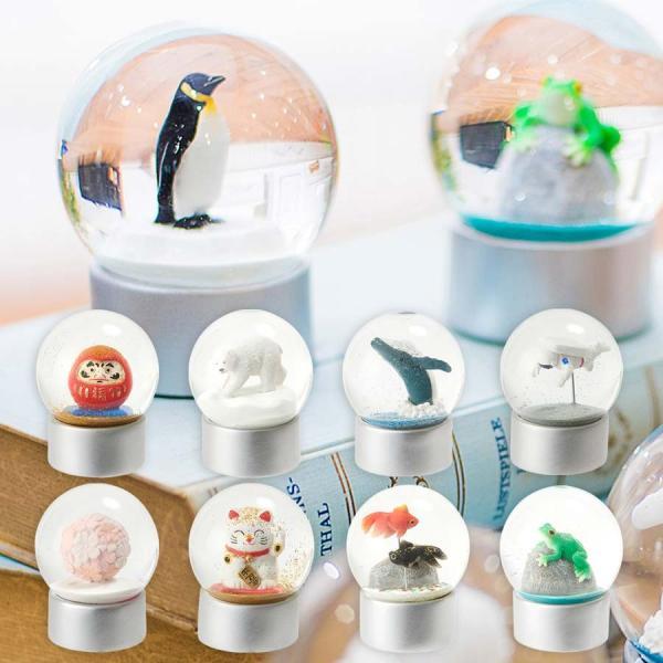 スノードーム ペンギン しろくま クジラ 桜 金魚 インテリア おしゃれ 可愛い 720-|studiolo|02