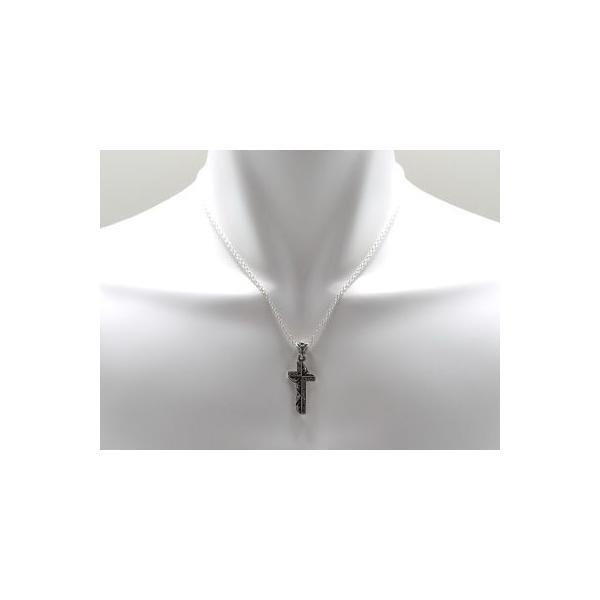 送料無料 シルバーアクセサリー 純銀 シルバー925 ブラックCZ クロス 十字架 ネックレス シルバー925チェーン付 誕生日 プレゼント ギフト 贈り物 ギフトBOX付|style-on-stage|03
