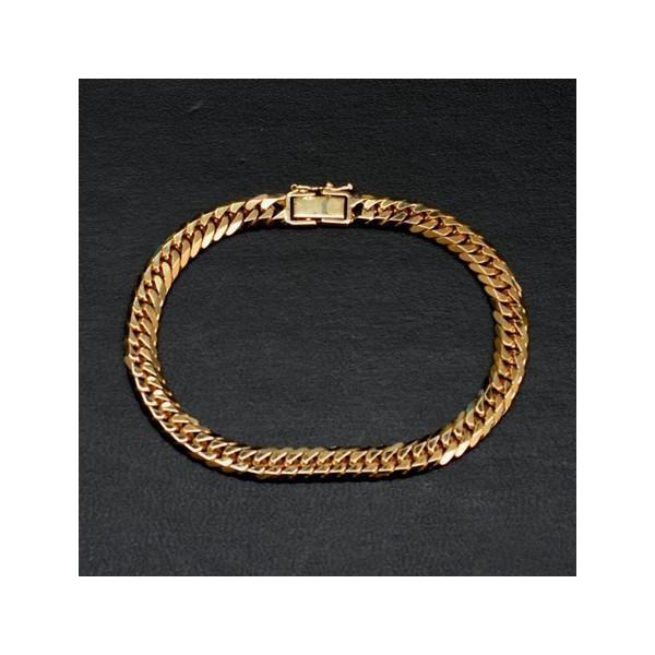 K18 アクセサリー 6面ダブル 喜平ブレスレット 18金 ゴールド 長さ18cm 線幅7.55mm 重さ30g 誕生日プレゼント 贈り物 ギフト BOX付