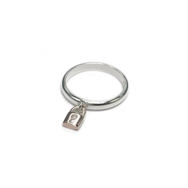 送料無料 シルバーアクセサリー 純銀 シルバー925 ピンクシルバー リング 指輪 鍵穴揺れチャーム 誕生日 プレゼント ギフト 贈り物 ギフトBOX付