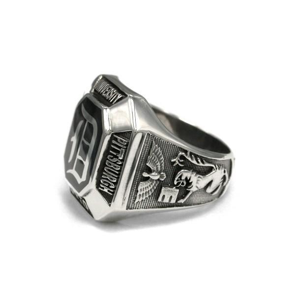 送料無料 シルバーアクセサリー 純銀 シルバー925 リング 指輪 カレッジリング 誕生日 プレゼント ギフト 贈り物 ギフトBOX付|style-on-stage|02