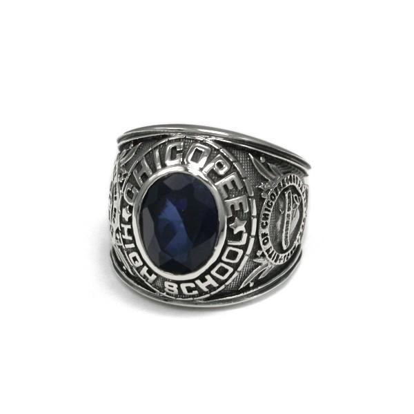 送料無料 シルバーアクセサリー 純銀 シルバー925 リング 指輪 カレッジリング 誕生日 プレゼント ギフト 贈り物 ギフトBOX付|style-on-stage