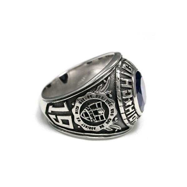 送料無料 シルバーアクセサリー 純銀 シルバー925 リング 指輪 カレッジリング 誕生日 プレゼント ギフト 贈り物 ギフトBOX付|style-on-stage|04