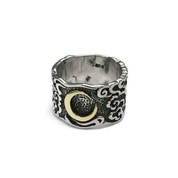 送料無料 シルバーアクセサリー 純銀 シルバー925 リング 指輪 和柄 雲の合間に浮かぶ三日月 誕生日 プレゼント ギフト 贈り物 ギフトBOX付 style-on-stage
