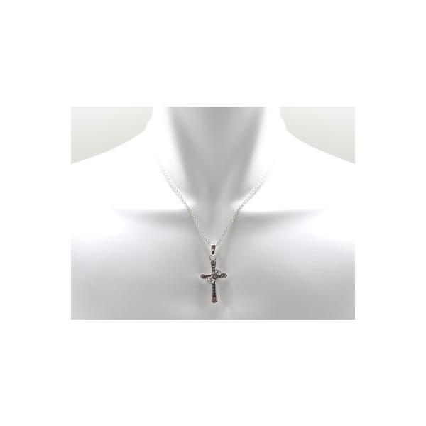 送料無料 シルバーアクセサリー 純銀 シルバー925 クロス 十字架 王冠 ネックレス シルバー925チェーン付 誕生日 プレゼント ギフト 贈り物 ギフトBOX付|style-on-stage|03