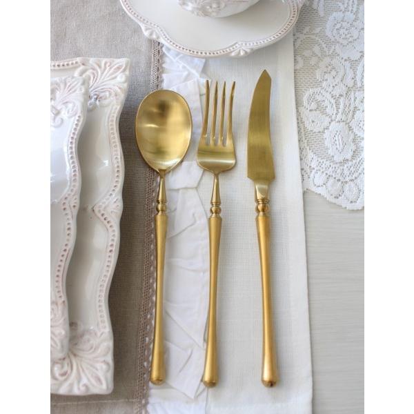 PARIS ディナーカトラリー ゴールド (ナイフ・フォーク・スプーン) ステンレス製 輸入食器 カトラリー おしゃれ ゴールド シルバー ヨーロピアン ネコポス