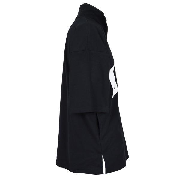 Tシャツ カットソー ハーフジップ 半袖 スタンドカラー ビッグシルエット 星条旗 USA ロゴ プリント トップス メンズ|styleblock|08