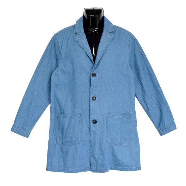 チェスターコート デニム コート ミディアムコート 6オンス ライトアウター メンズ styleblock 04