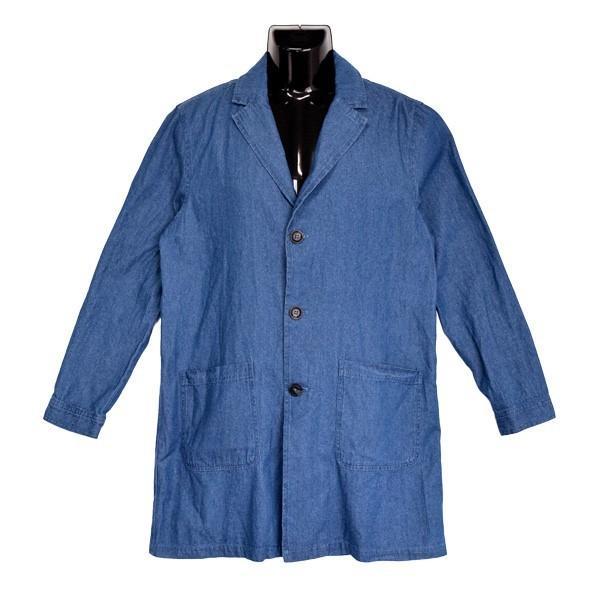 チェスターコート デニム コート ミディアムコート 6オンス ライトアウター メンズ styleblock 05