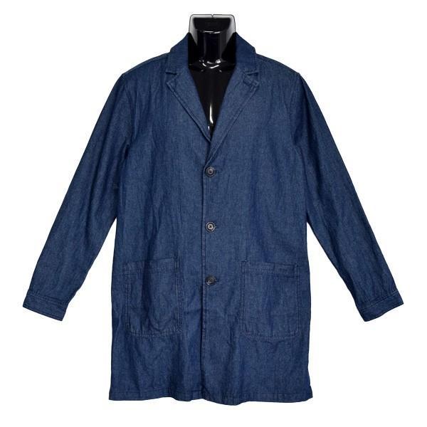チェスターコート デニム コート ミディアムコート 6オンス ライトアウター メンズ styleblock 06