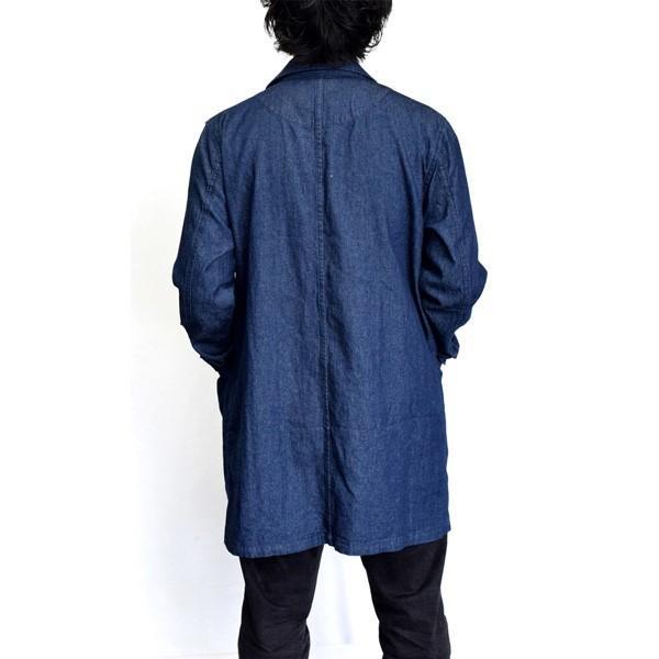 チェスターコート デニム コート ミディアムコート 6オンス ライトアウター メンズ styleblock 07