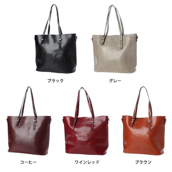 トートバッグ ショルダーバッグ 2way PUレザー 合皮 大きめ 大容量 ファスナー付き 小物 鞄 レディース|styleblock|02