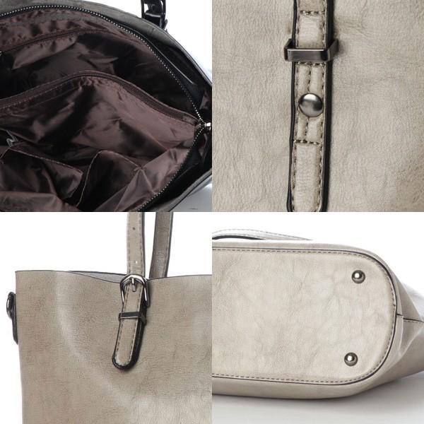 トートバッグ ショルダーバッグ 2way PUレザー 合皮 大きめ 大容量 ファスナー付き 小物 鞄 レディース|styleblock|03