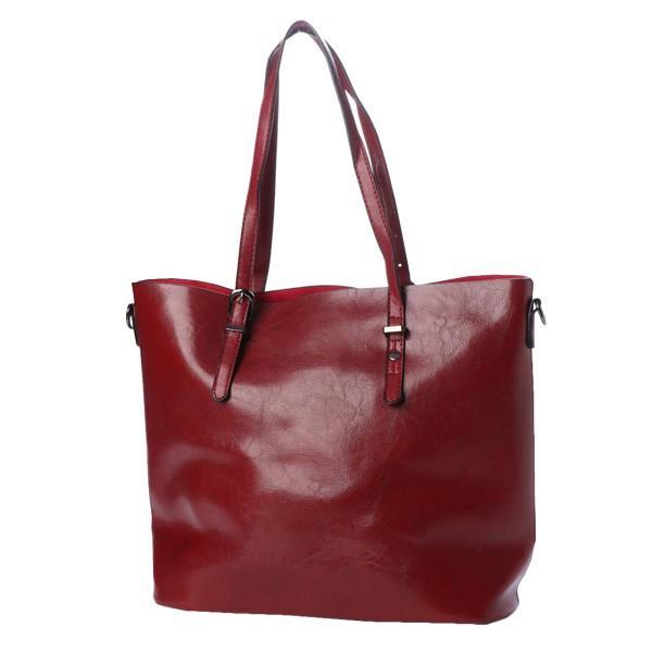 トートバッグ ショルダーバッグ 2way PUレザー 合皮 大きめ 大容量 ファスナー付き 小物 鞄 レディース|styleblock|08