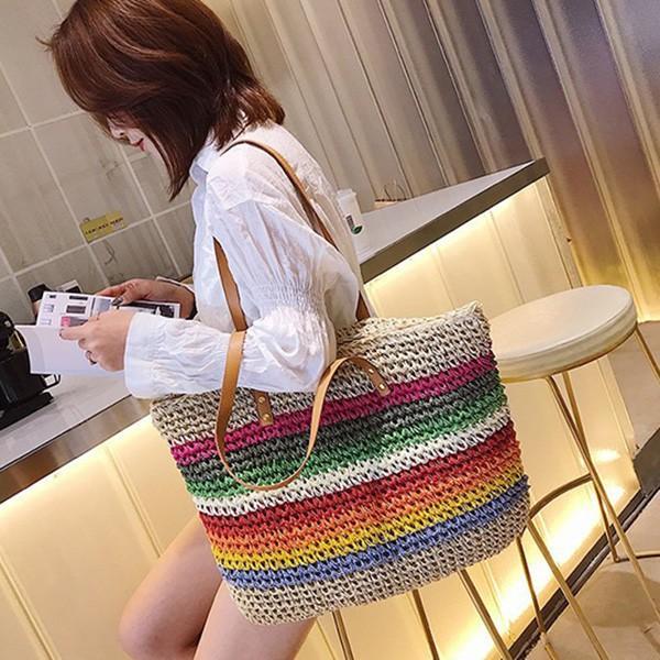 トートバッグ かごバッグ ストローバッグ A4 鞄 大容量 かばん バッグ 小物 レディース|styleblock|07