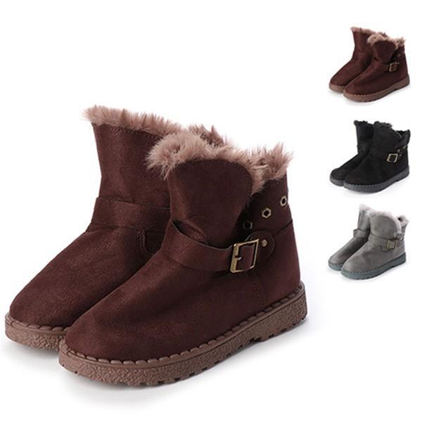 ブーツ ショートブーツ ムートンブーツ ファー 厚底  PUレザー 合皮 サイドジップ ベルト付き 靴 シューズ レディース