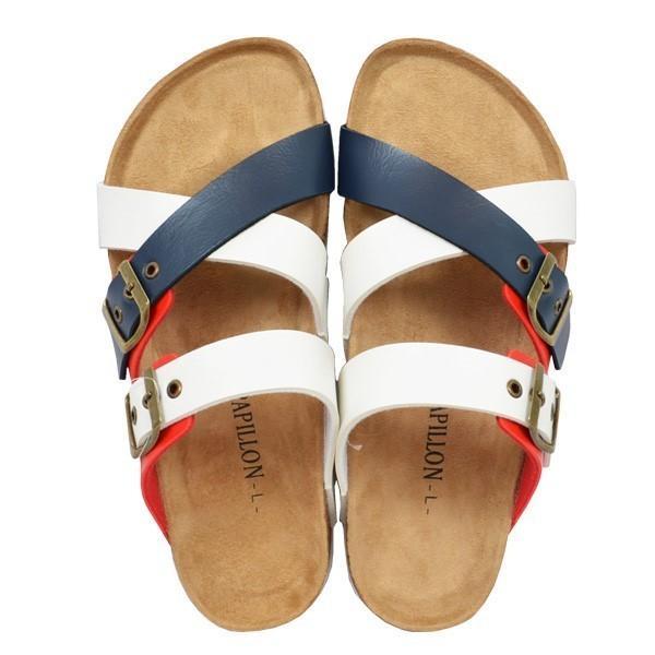 サンダル コンフォートサンダル ダブルベルト フラット 合皮 コルク シンプル シューズ 靴 メンズ|styleblock|04