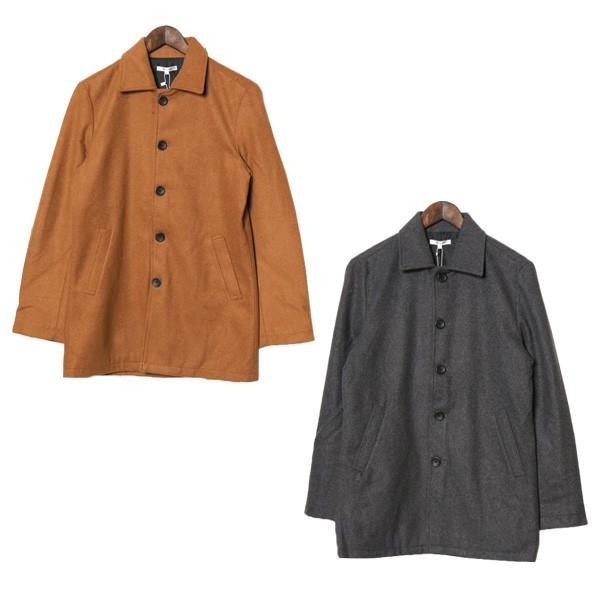 ステンカラーコート メルトンコート メルトンウール ショート丈 カラーコート ジャケット アウター メンズ|styleblock|05