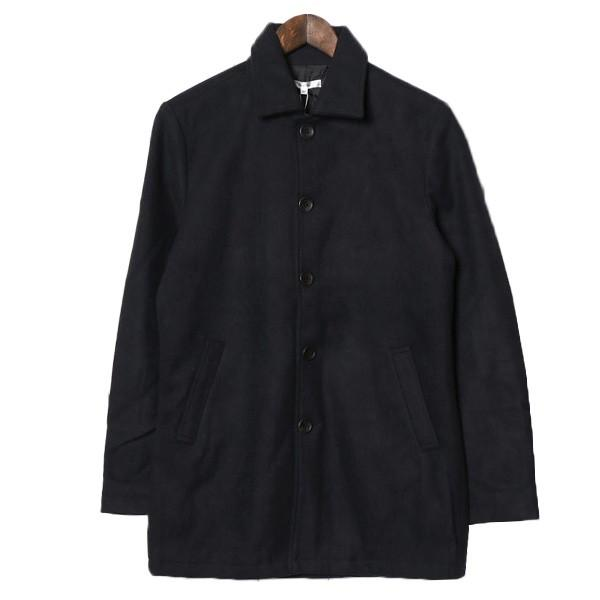 ステンカラーコート メルトンコート メルトンウール ショート丈 カラーコート ジャケット アウター メンズ|styleblock|08