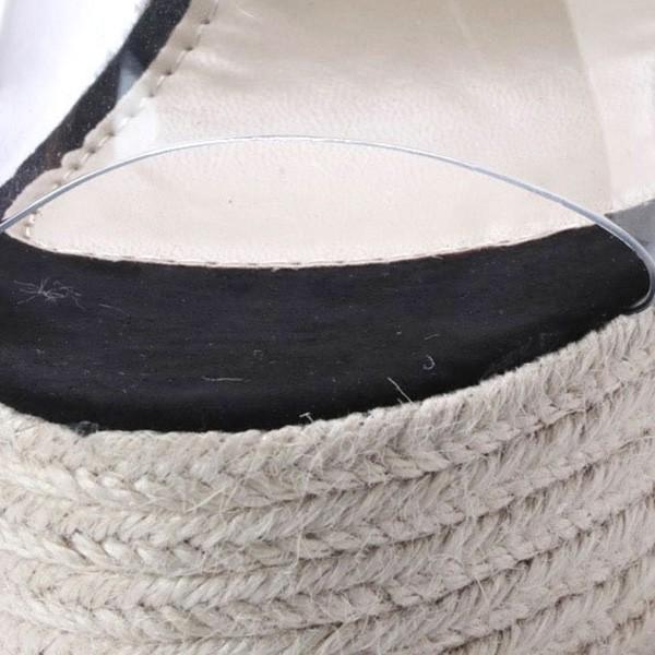 サンダル ウェッジソール 厚底 プラットフォームサンダル クリア 11cmヒール ハイヒール シューズ レディース|styleblock|06