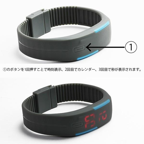腕時計 メンズ ブレスレット バングル LED ユニセックス 防水|styleblock|05