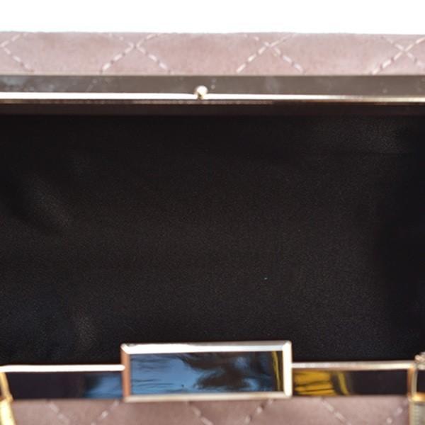 クラッチバッグ パーティーバッグ 結婚式 パーティー 披露宴 フォーマル 小物 ボックスデザイン がま口 キルティング レディース