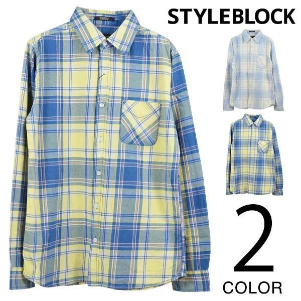 シャツ カジュアルシャツ チェック柄 ネルシャツ チェックシャツ トップス メンズ トップス|styleblockmen