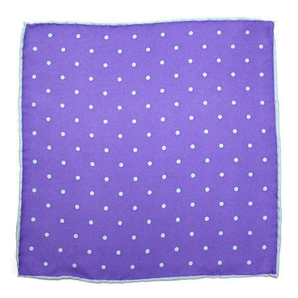 ポケットチーフ シルク ネコポス送料無料 パープル 紫|styleequal|02