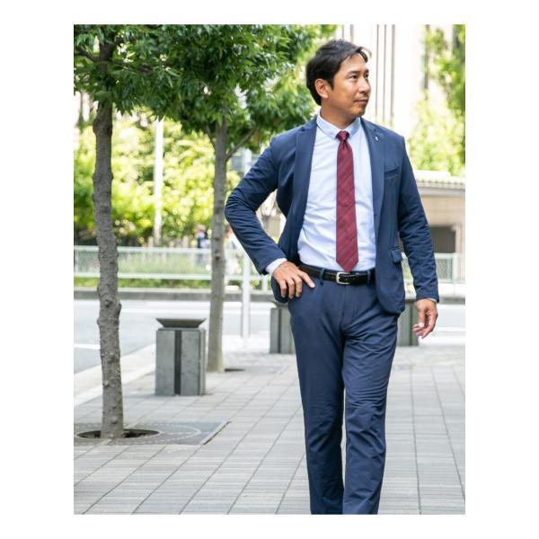 シルク100% ネクタイ  メンズ 無地 小紋 ドット 水玉 チェック ストライプ 慶事 結婚式 フォーマル 就活 リクルート スーツ|styleequal|06
