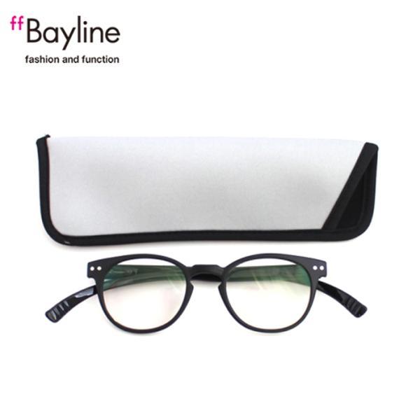 老眼鏡 女性 おしゃれ 男女兼用 軽量 ネックリーダー ボストン 老眼鏡 首 に 掛け られる 老眼鏡 ブルーライトカット 眼鏡ケース付き (マットブラック)