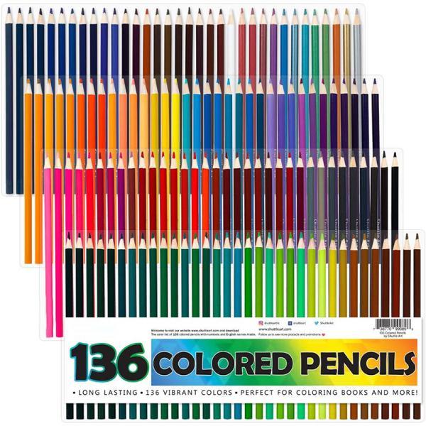 色鉛筆 カラーペン 136色セット 大人の塗り絵 スケッチ イラスト 落書き 手帳 ノード子供用 プレゼント 入園・入学お祝い