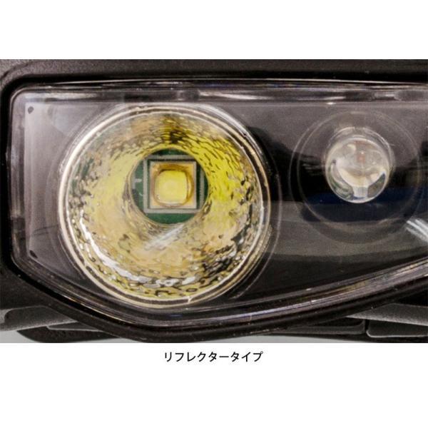 LED ヘッドライト 明るさ95ルーメン/実用点灯7.5時間/防滴 赤色サブLED ヘッドライト DDM