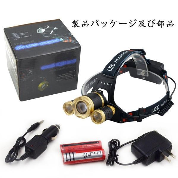 LEDヘッドライト  8000ルーメン 【実用点灯4.5-8時間】4種の点灯モード ズーム・角度調節 高輝度  防水 充電用USBケーブル・ACアダプタ・電池付属DDM