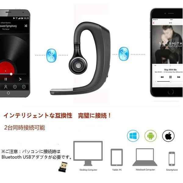 送料無料Bluetooth4.1 ヘッドセット マイク内蔵  高音質ワイヤレスヘッドセット ステレオハンズフリー Bluetooth 携帯電話 日本語説明書付き DDM