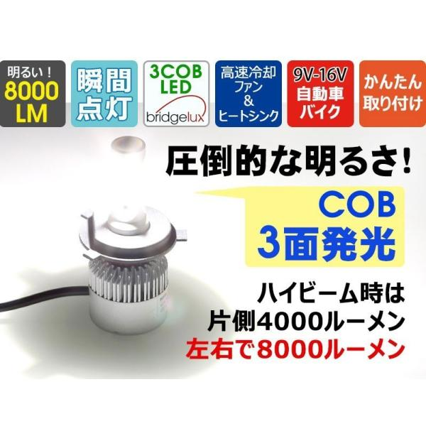 送料無料業界人気No.1 LEDヘッドライト 『ブラックナイト2』 H4 Hi/Lo LEDフォグランプ H1 H3 H7 H8 H11 H16 HB3 HB4 選択可能 純白光炸裂 美白光 1年保証|stylejapan|03