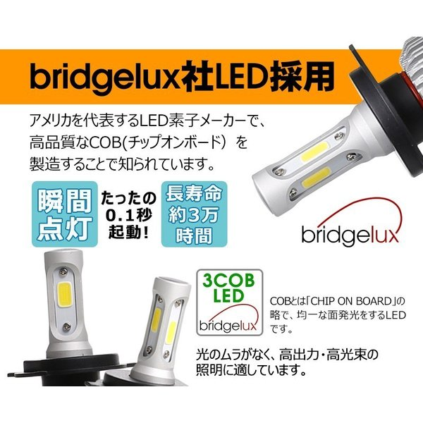 送料無料業界人気No.1 LEDヘッドライト 『ブラックナイト2』 H4 Hi/Lo LEDフォグランプ H1 H3 H7 H8 H11 H16 HB3 HB4 選択可能 純白光炸裂 美白光 1年保証|stylejapan|06